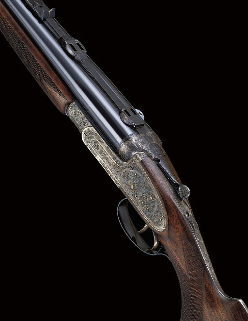 A .375 H&H MAGNUM DOUBLE-BARRELLED SIDELOCK EJECTOR RIFLE BY JOSEPH LANG & SONS, NO. 15795