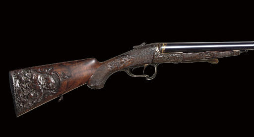 AN EXCEPTIONALLY FINE 16-BORE PIVOT-OPENING DOUBLE-BARRELLED SHOTGUN BY W.COLLATH, NO. 12645