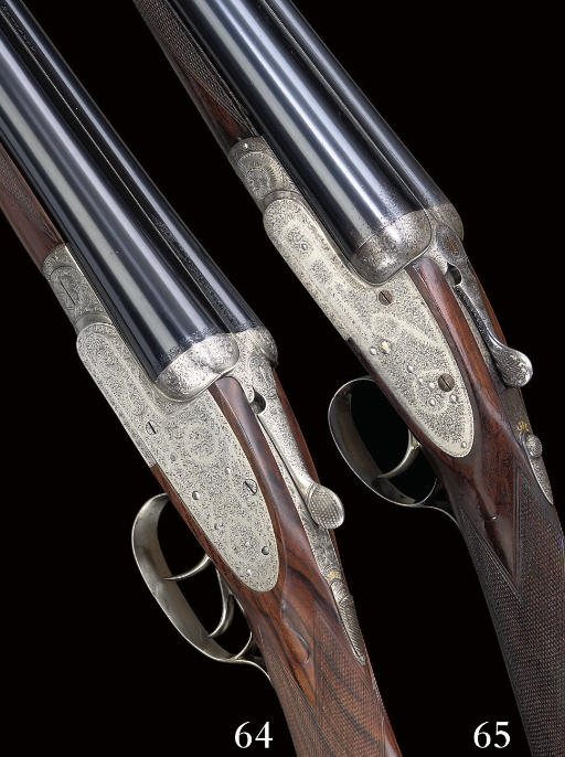A 12-BORE SINGLE-TRIGGER SIDELOCK EJECTOR GUN BY C.S. ROSSON & CO., NO. 2699