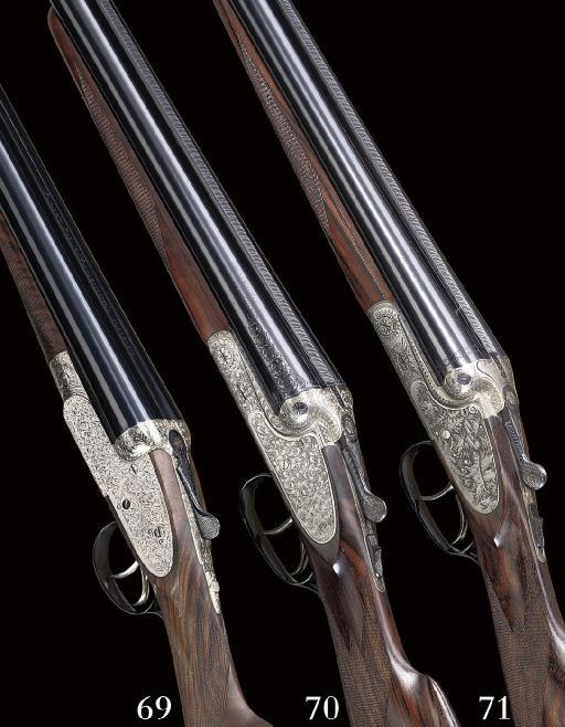 "A 12-BORE ""BASSETT ROYAL"" SELF-OPENING SIDELOCK EJECTOR GUN BY DAUDSONS, NO. 9078"