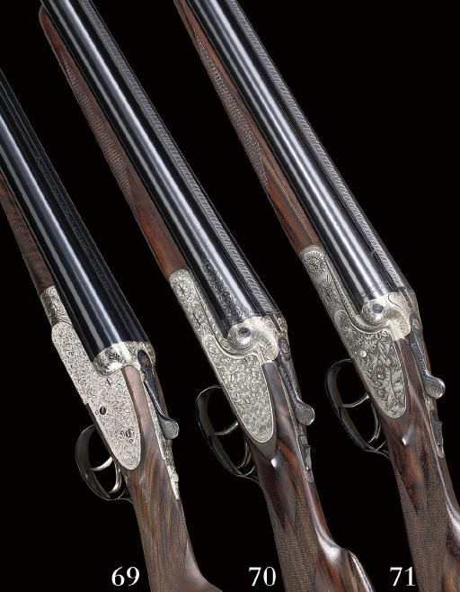 AN AS NEW 12-BORE SIDELOCK EJECTOR GUN BY GEBRUDER MERKEL, NO. 785421