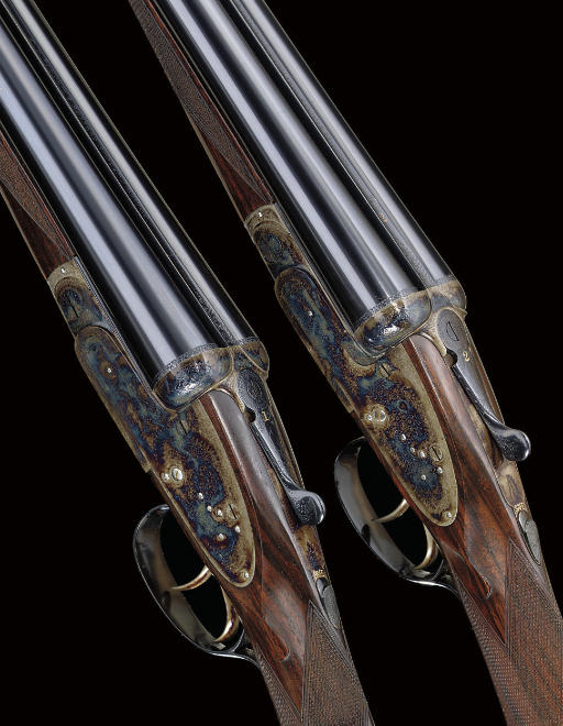 A PAIR OF 12-BORE SIDELOCK EJECTOR GUNS BY C.S. ROSSON & CO., NOS. 3740/1