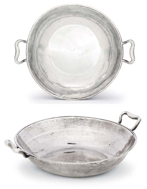 A GEORGE II SILVER TWO-HANDLED BOWL
