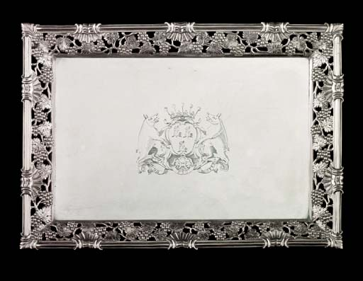AN IMPORTANT GEORGE II SILVER WAITER