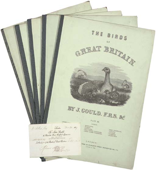 GOULD, John (1804-1881). The Birds of Great Britain. London: the author, 1 August 1862-1 December 1873.