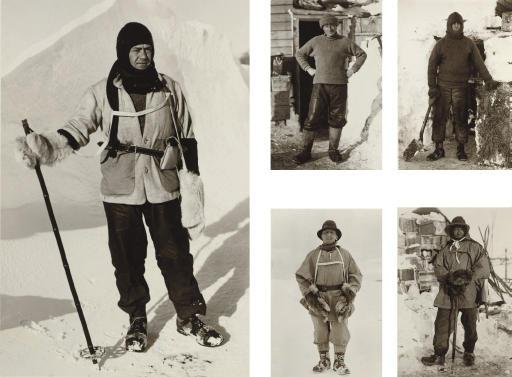 The Polar Party. -- Captain Scott; Captain L.E.G. Oates; Dr. E.A. Wilson; Lieut. H.R. Bowers; Petty Officer Edgar Evans