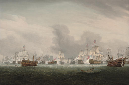 The height of the action on the 'Glorious First of June', 1794