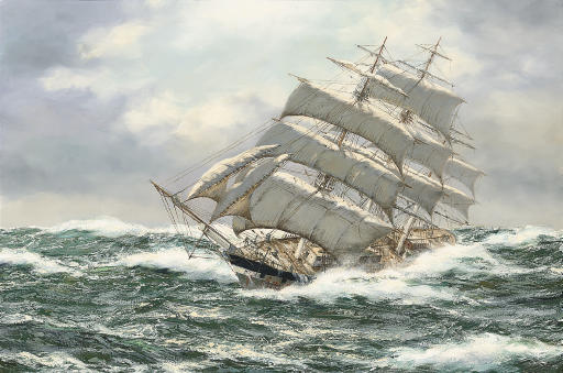 The Argonaut in an angry sea