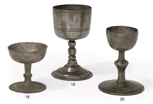 AN ENGLISH PEWTER CHALICE