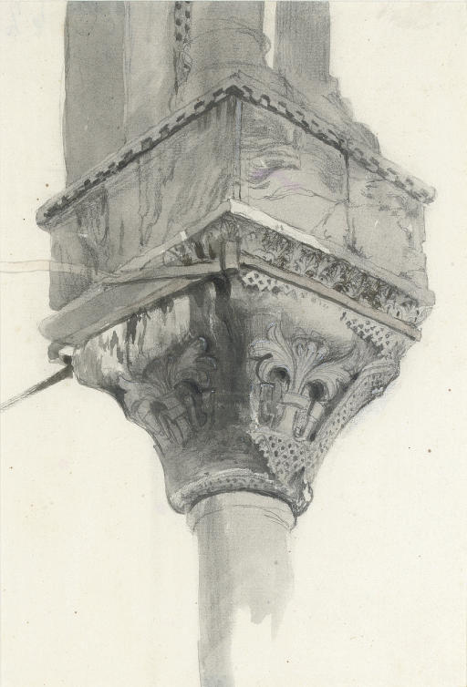Study of a basket and lily capital, Basilica di San Marco, Venice