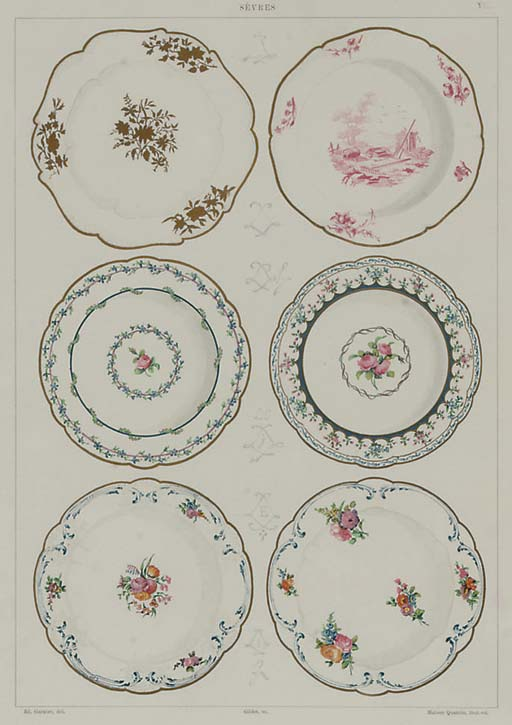 Four plates from 'The Soft Porcelain of Sèvres'
