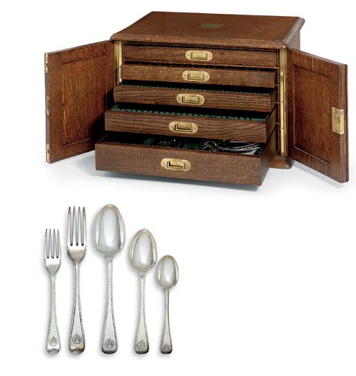 A VICTORIAN SILVER TABLE-SERVICE