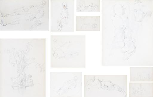 Three sketch albums: Album no. 1, 1929-1930 (77 pages); Album no. 3, 1930-1936 (61 pages); Album no. 5, 1935-1936 (69 pages)