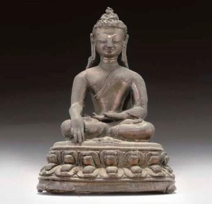 A Tibetan bronze model of Aksh