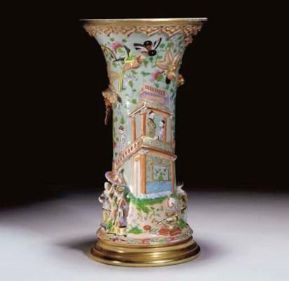 A Samson beaker vase, late 19t