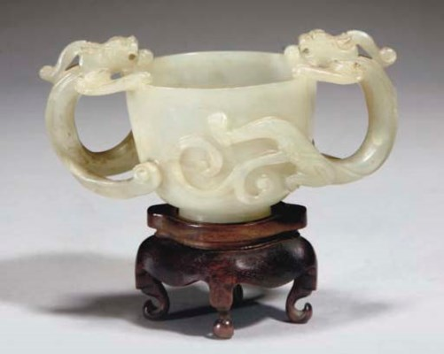 A Chinese pale celadon jade tw