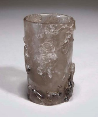 A Chinese rock crystal brushpo