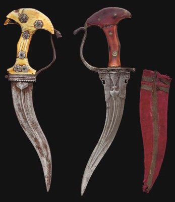 TWO IVORY HILTED CHILANUM DAGG