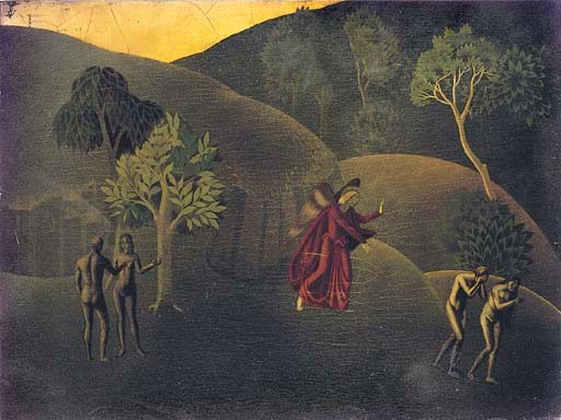 William Lovely British 1905 1991 The Expulsion From The Garden Of Eden And Figures And