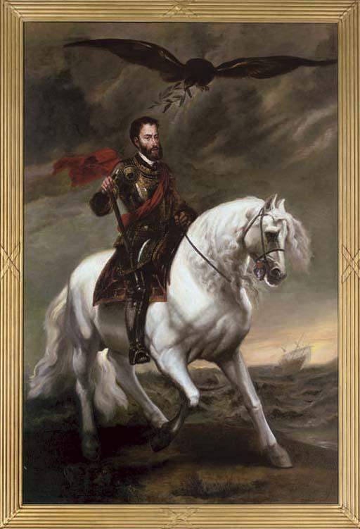 Portrait of King Charles V of Spain (1500-1558) on horseback