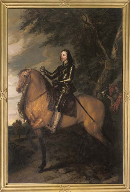 Portrait of Charles I (1600-1649) on horseback