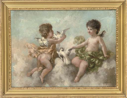 Divine fruit; and Cherubs and doves