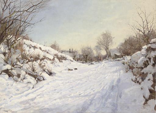 A winter track in Hosterkøob