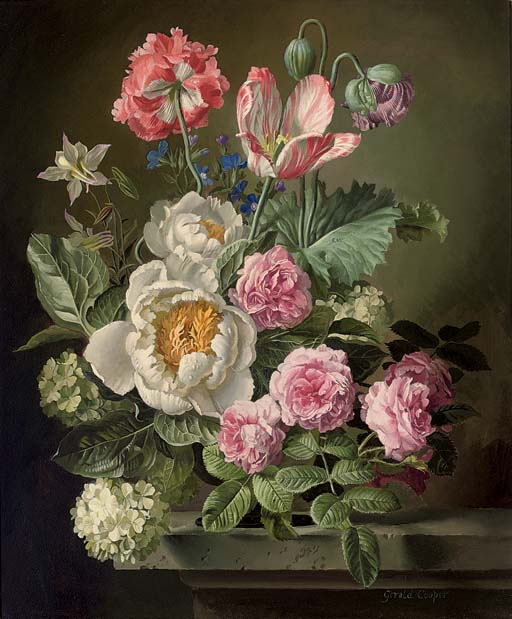 A vase of spring beauty