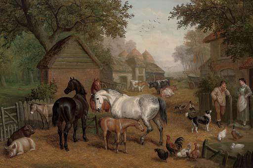 A rural farmyard