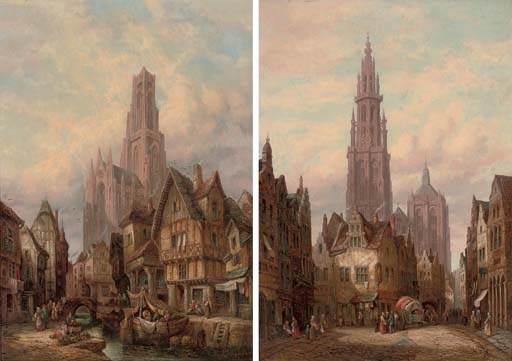 Antwerp Cathedral; and Morlaix, Brittany