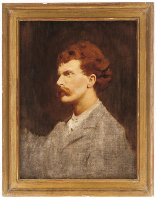 Portrait of Cecil Gordon Lawson (1851-1882), the artist's brother, bust-length