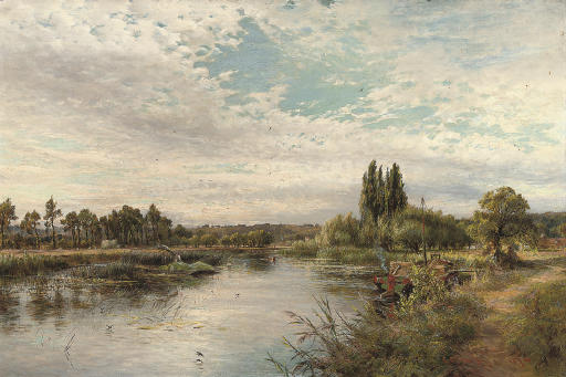 On the river, near Marlow
