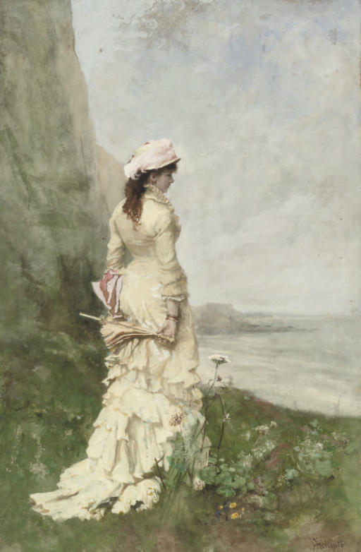 An elegant lady by the sea