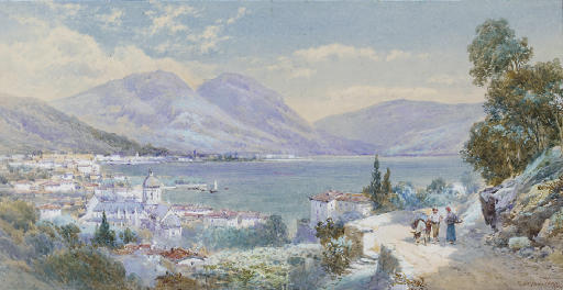 Gossiping on a path above Lake Como