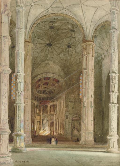Interior of Belem Cathedral, Lisbon