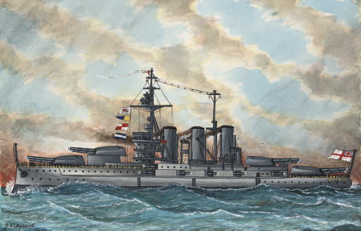 A quantity of unframed watercolours, the majority of battleships including: S.S. Mamari; S.S. Dominion; H.M.S. Drake; H.M.S. Tiger; and others; and the S.S. Lorna (illustrated); the majority signed and inscribed (on the reverse) and variously dated from 1907 to 1922