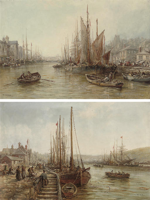 Peel Harbour, Isle of Man; and Douglas Harbour, Isle of Man  (both illustrated)