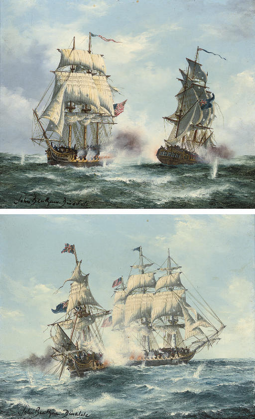 The Macedonian and the United States, 25th October, 1812; and The Java and the Constitution, 29th December, 1812 (both illustrated)