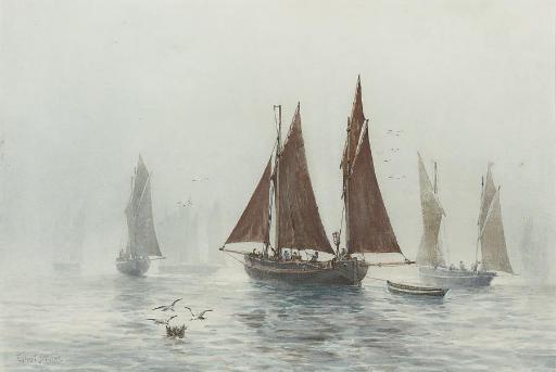 The fishing fleet in a calm