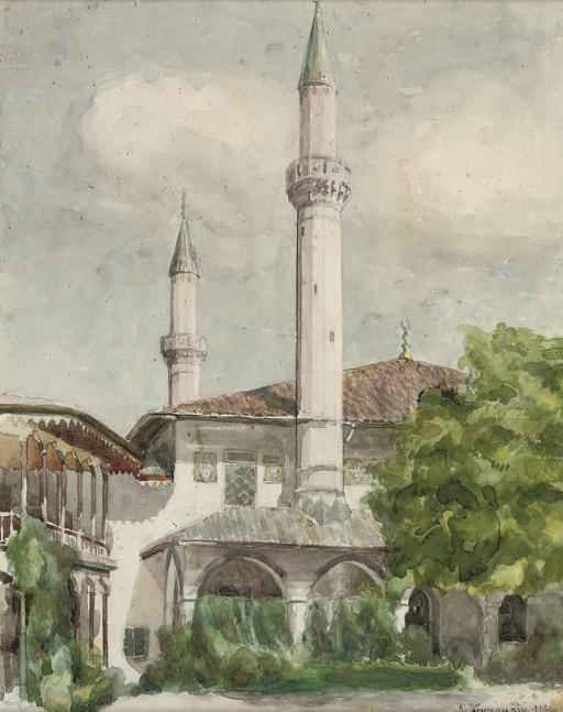 The mosque of Khan's Palace in Bakhchisarai, Crimea