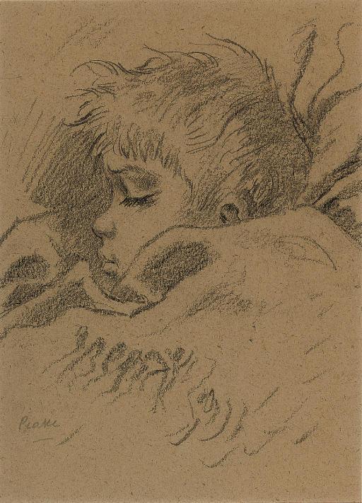 Boy sleeping; the artist's son