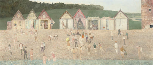 Beach Huts and Bathers