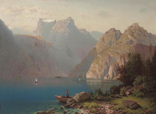 An alpine lake in summer