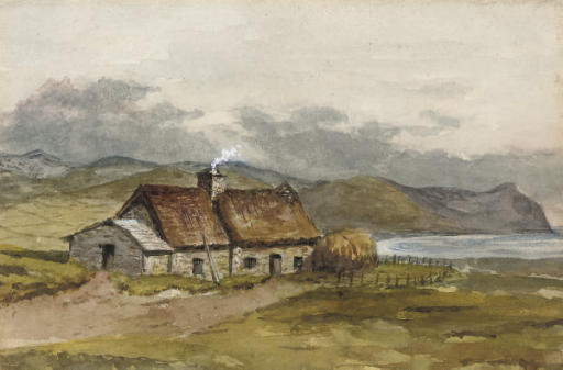 A crofter's cottage on the coast