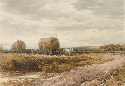 Gathering the hay