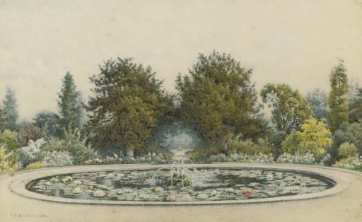The gardens at Hampton Court Palace