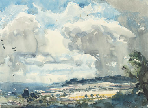 Cloud study (illustrated); and The approaching squall