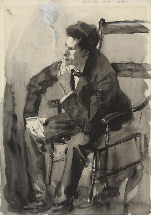 Study of a man, seated in a chair