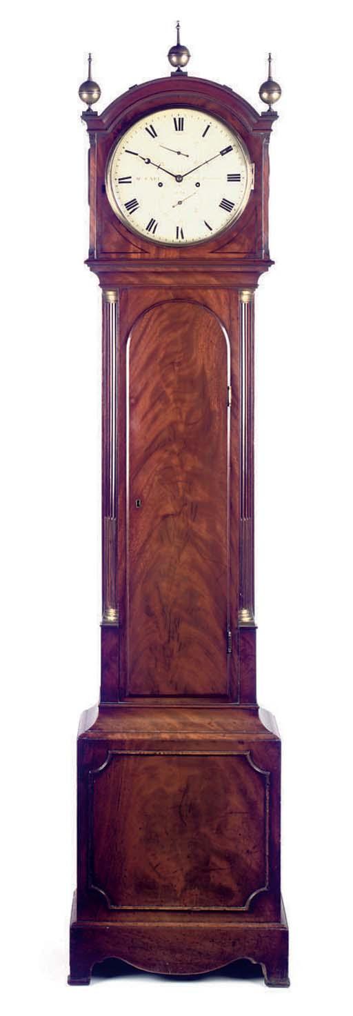 An Early Victorian mahogany striking eight day longcase clock