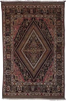 An unusual Qashqai rug, South-